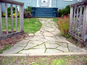 Flagstone path before